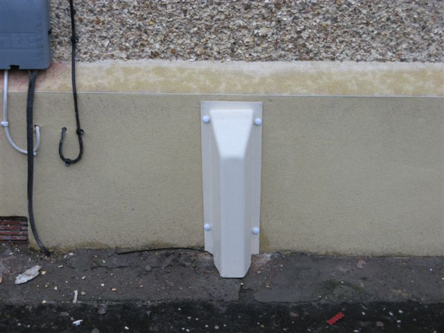 External Gas Pipe Trunking Non Resident Cyclist Locking